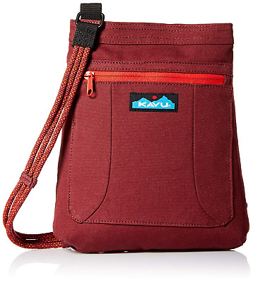 92485c69d5a KAVU Keepalong Semi Padded Sling Canvas Rope Crossbody Bag - Port