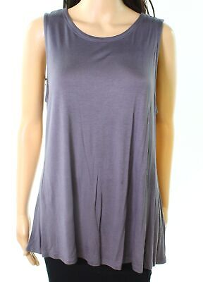 2735c4c97e5 Cupio NEW Deep Gray Womens Size XL Solid Scoop-Neck Stretch Tank Top  28-
