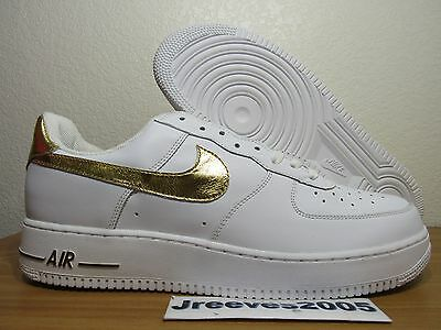 69d5c158f3a50f DS 2005 Nike Air Force 1 Sz 13 100% Authentic White Gold RARE 306353 173