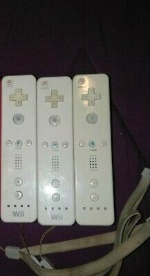 Genuine OEM Official Nintendo Wii & U Remote Controller (RVL-003) White Lot of 5