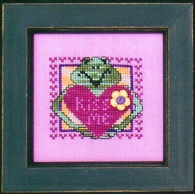 Val's Stuff KISS ME Cross Stitch Chart/Leaflet Only ~ Valentine frog / heart