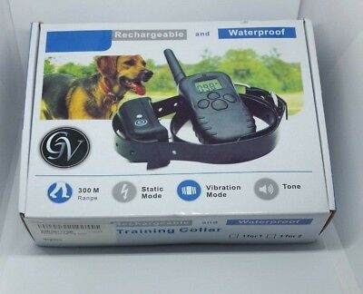 Electric Dog Training Collar LCD Remote Control Rechargeable Shock E-Collar