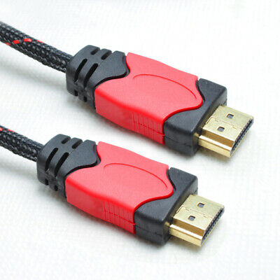 Lot 3/6/10/15/25/30FT Braided Ultra HD 1080P 4K HDMI Cable V1.4 Hi-Speed HDTV US