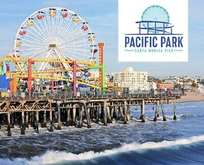 PACIFIC PARK SANTA MONICA PIER Ticket UNLIMITED Wristband $19.75 Promo Tool SAVE