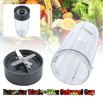 NEW Blenders Extractor Blade + 32oz Colossal Cup Combo For NutriBullet 600w 900w