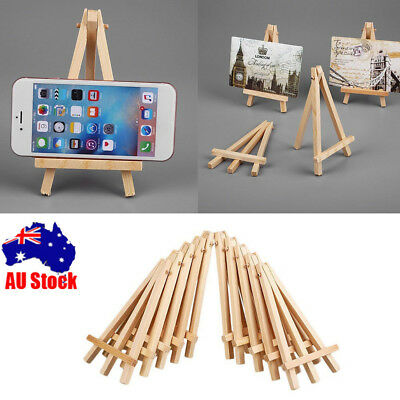 1-20 Mini Artist Paint Wooden Easel Photo Card Stand For Home Decoration Display