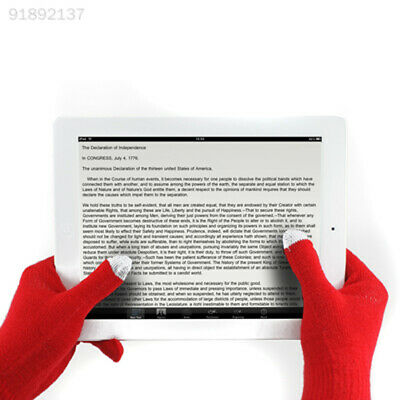 6002 Women/Men Knitted Wool Gloves Warm for Phone Tablet Touch Screen Glove