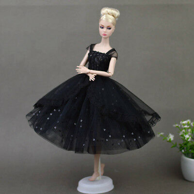 "Doll Dress Elegant Lady Black Little Dress Evening Dress Clothes for 11.5"" Doll"