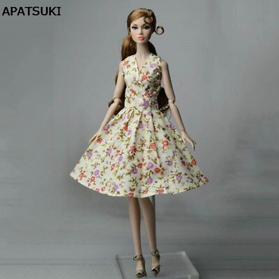 "Floral Countryside Classical Dress For 11.5"" Doll Clothes Evening Dress Outfits"