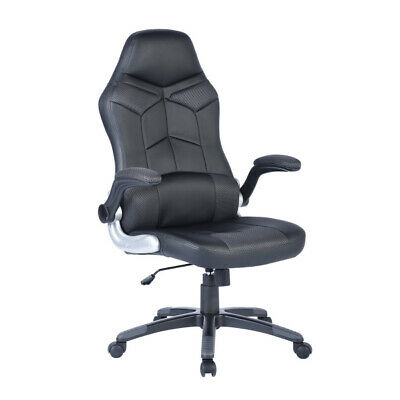 Flipped Up  Armrests Gaming Chair Reclining  Computer Chair Office Chair Black