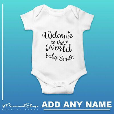 Personalised Baby Grow Vest Bodysuit Girl Or Boy Perfect Custom Baby Shower Gift