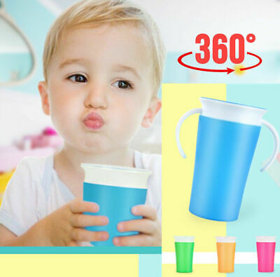 260ML LEAK-PROOF BABY KIDS TODDLER LEARNING DRINKING WATER CUP BOTTLE Magic
