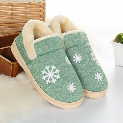 Autumn And Winter Warm Soft Cotton Couple Slippers Anti-Slip Plush Shoes