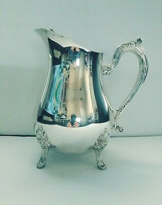 Suffolk Silversmiths Silver Plate Footed Vintage England Water pitcher