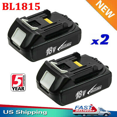 2x For Makita BL1815 BL1820 BL1830 18V LXT Lithium-Ion Cordless Battery 2.0Ah US