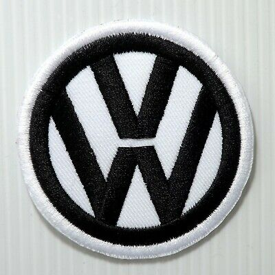 """2.1/2""""x1P. Volkswagen Motor Black Embroidered Iron On Patch Cap Shirt Apparel"""
