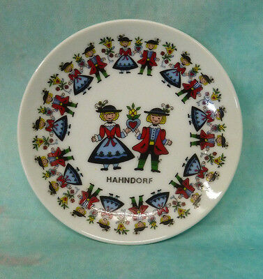 Collectable Old Estate Handorf  German girl & Boy Plate The Cabochon Australia