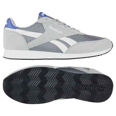 REEBOK CLASSIC JOGGER 2 Nylon Grey Blue Trainers Sizes UK 11