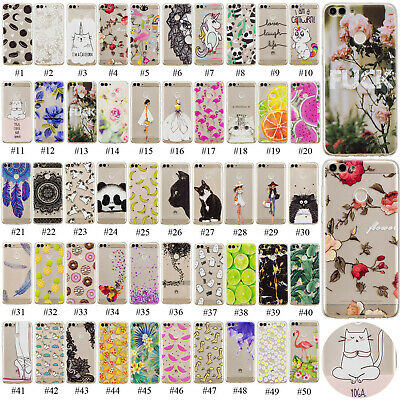 Slim Fit Clear TPU Case Printed Pattern Phone Cover For Huawei P Smart 2019/2018