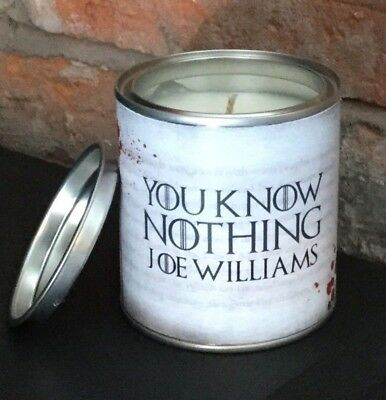 Game Of Thrones Personalised You Know Nothing Candle Gift