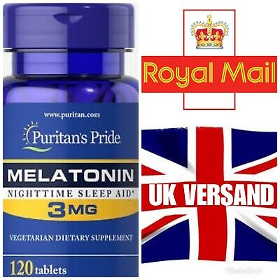 Puritan's Pride Melatonin 3mg 120 Tabletten UK Versand