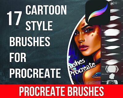 17 Cartoon Style Brushes for Procreate. Comic Style Procreate. Digital Download!
