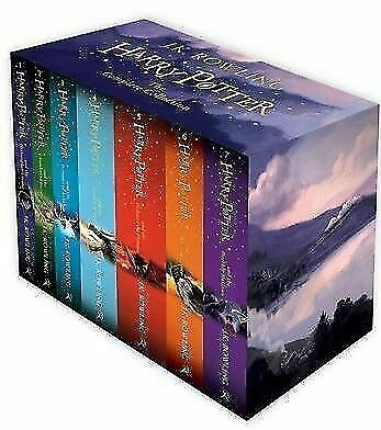 NEW Harry Potter 7 Books Complete Collection Boxed Set JK Rowling Free Shipping