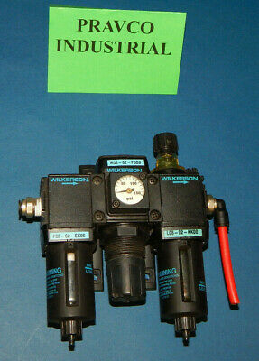 Wilkerson Compressed Pneumatic Filter Regulator R08-02-F0G0 with Lubricator