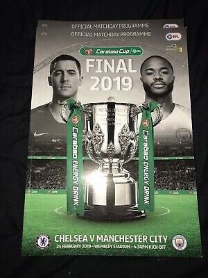 Chelsea Vs Manchester City Efl Carabao Cup Final Official Match Day Programme