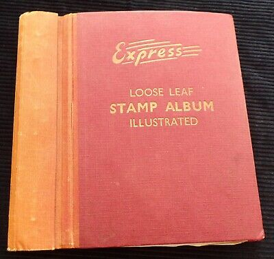 Old Express Loose Leaf Stamp Album with World Collection