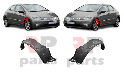 For Honda Civic Hatchback 06-11 New Front Wheel Arch Trim Cover Plastic Pair Set