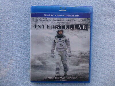 Interstellar (Blu-ray + DVD ) Matthew McConaughey - NEW / SEALED - No Slip Case