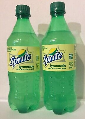 2 Sprite Lymonade 🍋Lemonade Juice Soda Pop 20 Oz New Bottle