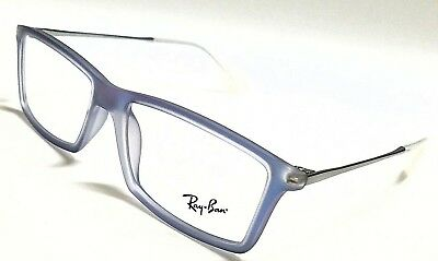 ff072b19e0 New Authentic RAY BAN Mattew RX7021 5496 Iridescent Blue 52mm Eyeglasses