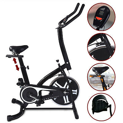 Stationary Exercise Spinning Bike Bicycle Cardio Workout Fitness Indoor Black
