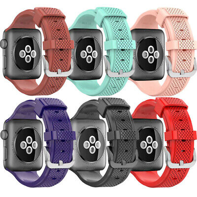 Replacement Soft Silicone Sport Strap Band For Apple Watch Series 3/1/2 38/42mm