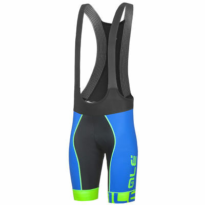 NEW Ale Bike Wear Cycling Bib Shorts PRR Blue Ion Yellow Mens 2XL MADE IN  ITALY 150a76f1a