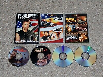 Chuck Norris - American Hero Collection DVD 2006 Delta Force Missing in Action