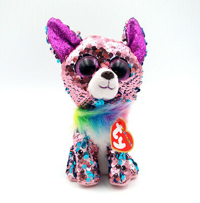 "Ty Beanie Boo/'s 6/"" Sequins the lamb Plush Toy Gift 2018"