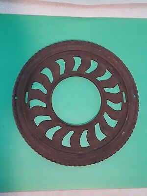 Antique Cast Iron Ornate Round Victorian Stove Pipe Register Grate Vent