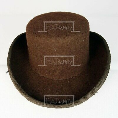 CLASSIC Wool Felt Mini Top Hat Women Fascinators Ladies Topper Coachman | Brown