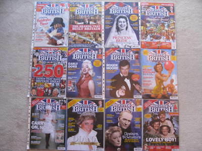 12 x Best of British Past And Present Magazines. All 12 from 2017.