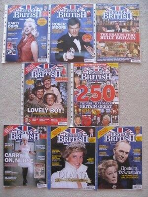 8 x Best of British Past And Present Magazines. 8 x from 2017.