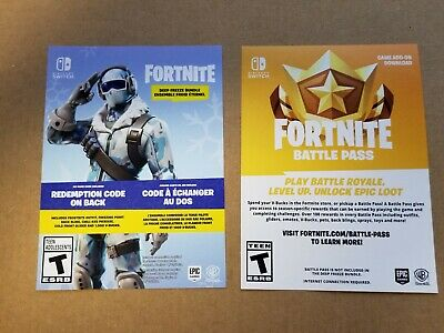 Nintendo Switch Fortnite Deep Freeze Bundle Frostbite Outfit 1000 V
