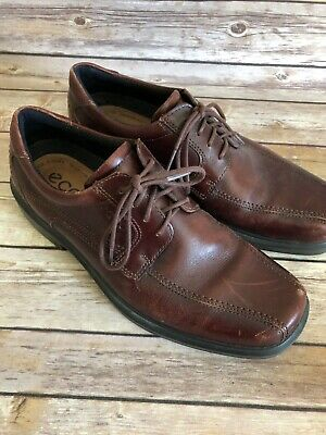 0a8afd4f93 Ecco Oxford Dress Shoes Size 42 US 8 Mens Brown Lace Up Career Round Toe