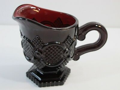 Vintage Avon 1876 Cape Cod Collection Ruby Red Glass Creamer