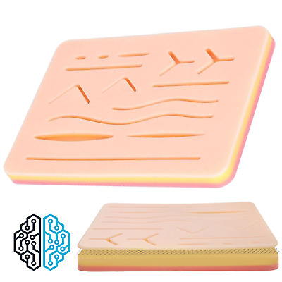 Complete Veterinary Medical Student SKIN SUTURE Practice Pad + Pre-Cut Wounds