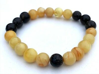 Natural jewelry BALTIC Amber beads bracelet 6 gr. #729  Bernstein ambra 琥珀色 hupo