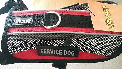Liopard Service Dog Vest Harness Breathable Mesh Removable Patch Teacup / SM-XL