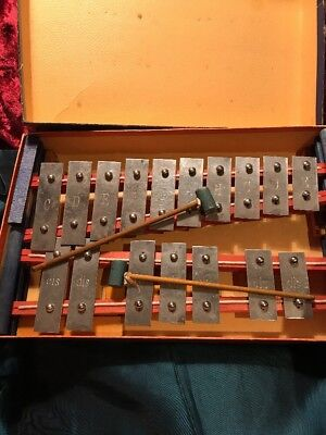 Metalliphon Glockenspiel Musical Vintage Boxed Instruments.
